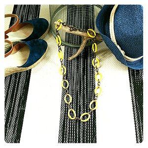 J Crew Trendy Yellow Link Necklace